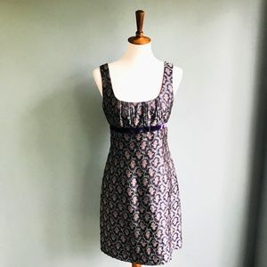 Purple Print Nanette Lepore Fit and Flare Dress 6
